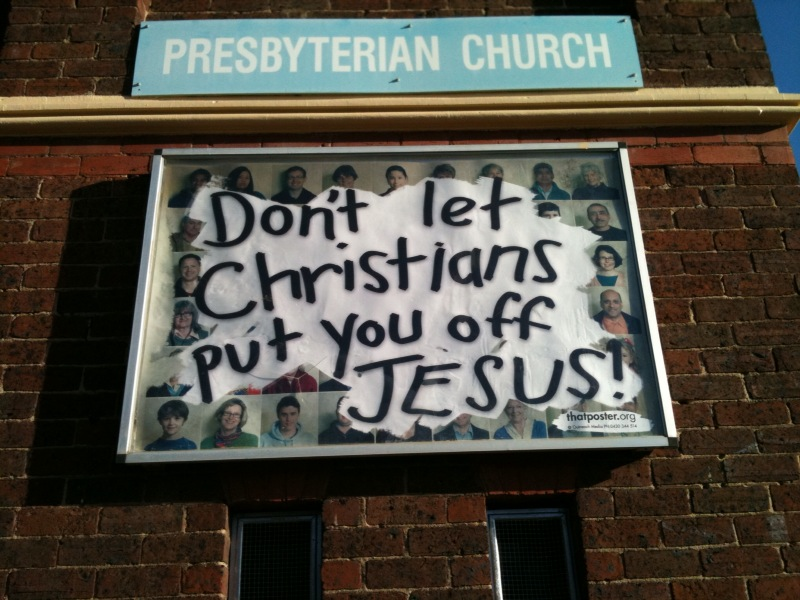 Christian Billboard on Scotchmer Street in Clifton Hill