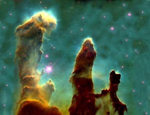 Hand of God? - Hubble Telescope image