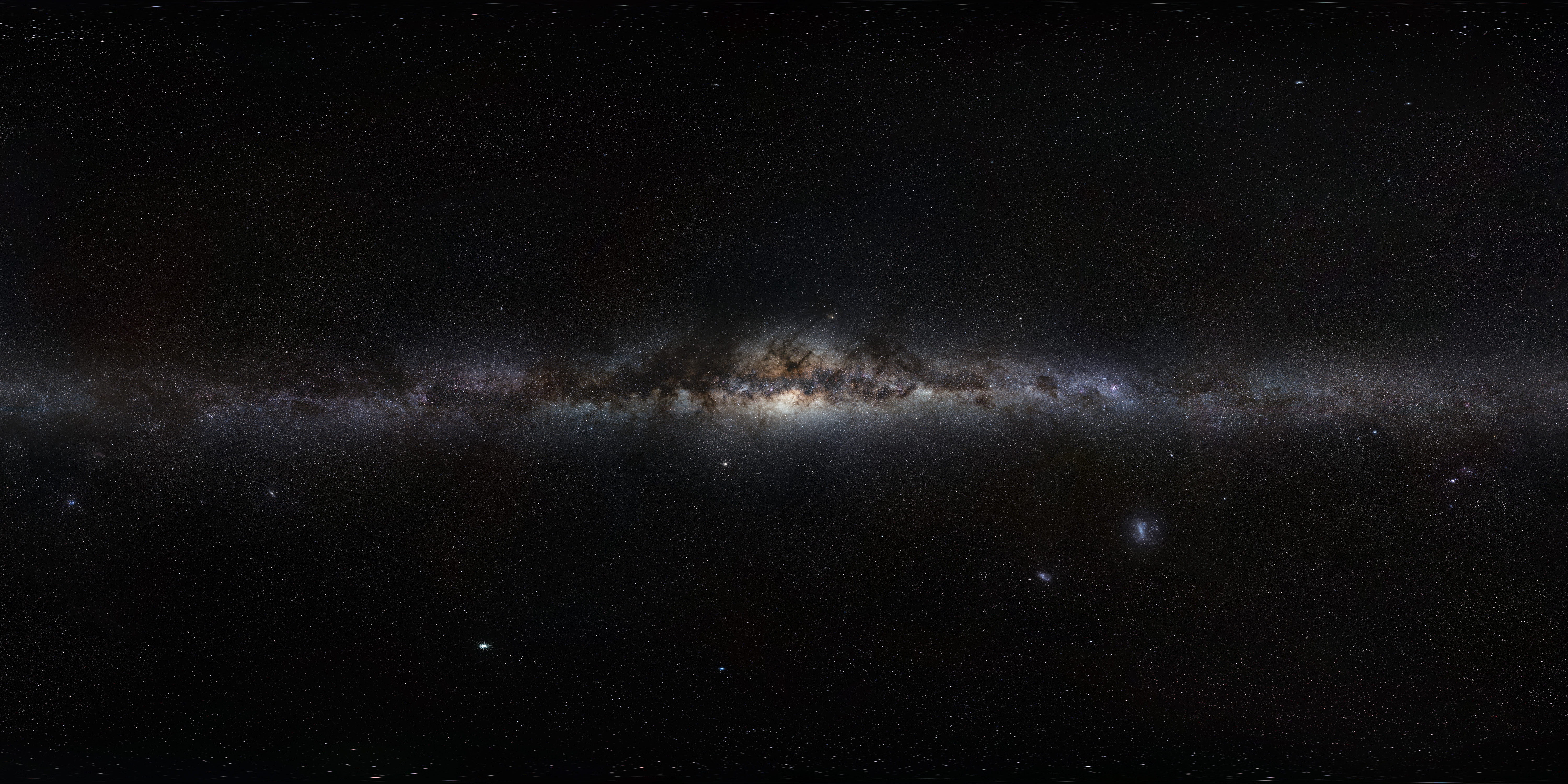 The Milky Way panorama from the European Southern Observatory